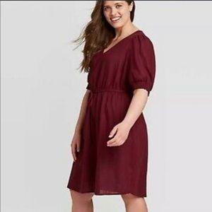 Cabernet Red Dress NEW 4X